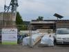 Blockhaus-Bausatz regendicht verpackt