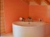 Badezimmer im Blockhaus