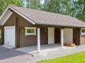 Blockhaus als Garage
