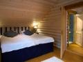 Schlafzimmer im Blockhaus