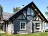 Vierkant-Naturstammhaus