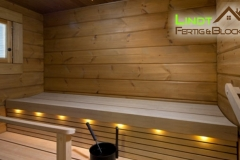 Saunabänke Blockhaussauna