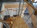 Treppe im Blockhaus Fertighaus