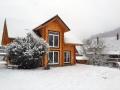 Blockhaus im Winter bauen