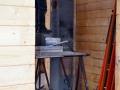 Schornstein im Blockhaus montieren