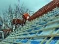 Dachziegel montieren