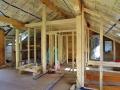 Holzständerwände im Blockhaus